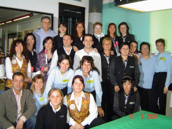 Tappeto Rosa, foto di gruppo